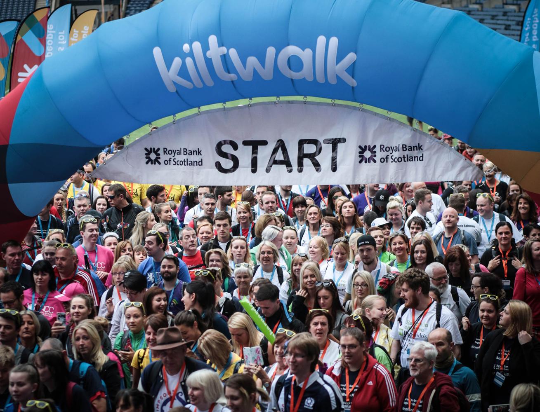 Last year's Royal Bank of Scotland Kiltwalk. (Royal Bank of Scotland Kiltwalk/PA Wire)