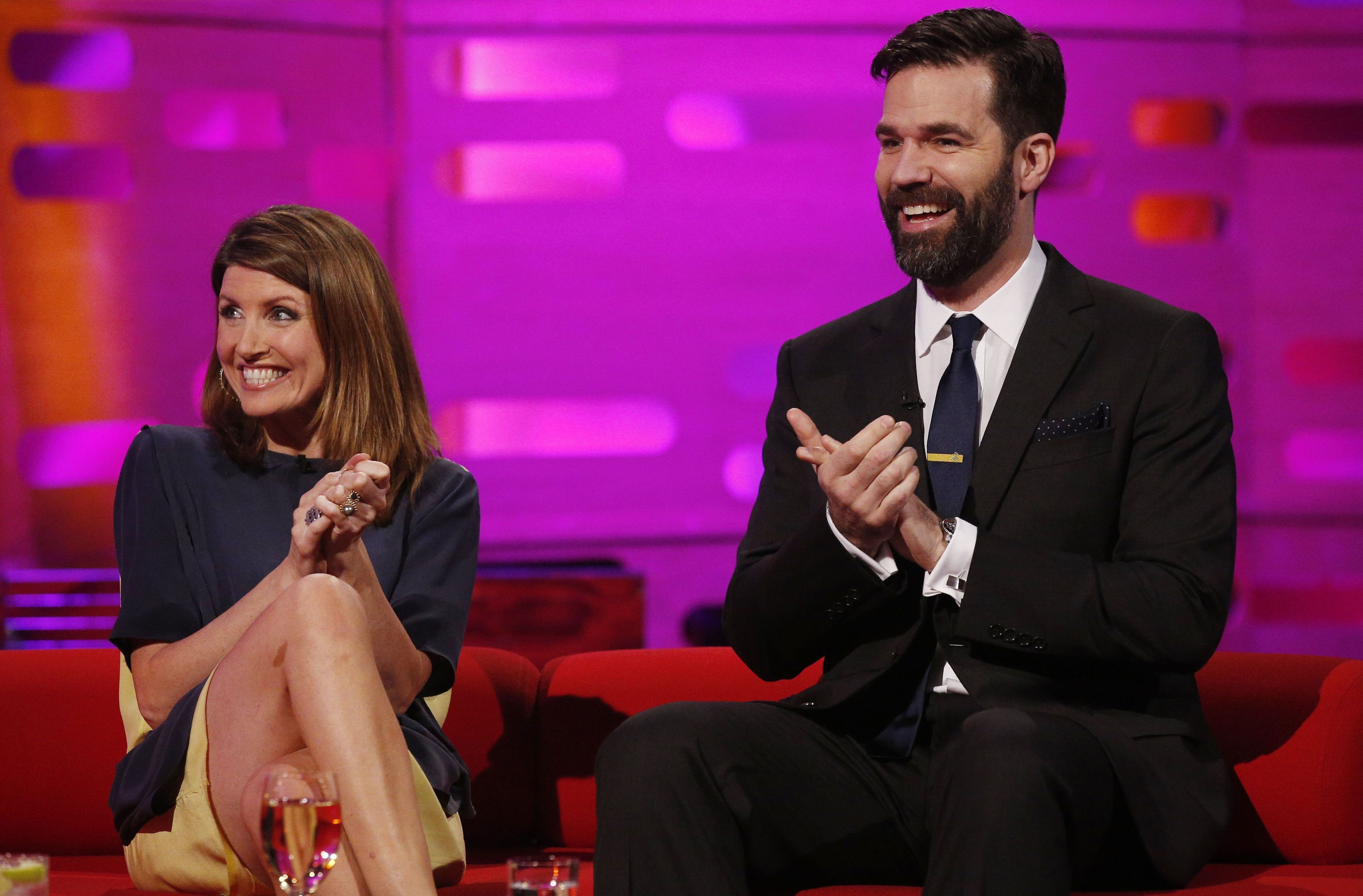 Sharon Horgan and Rob Delaney who are among a host of TV stars taking over Channel 4 to make tributes to the women who have inspired them the most.d (Jonathan Brady/PA Wire)