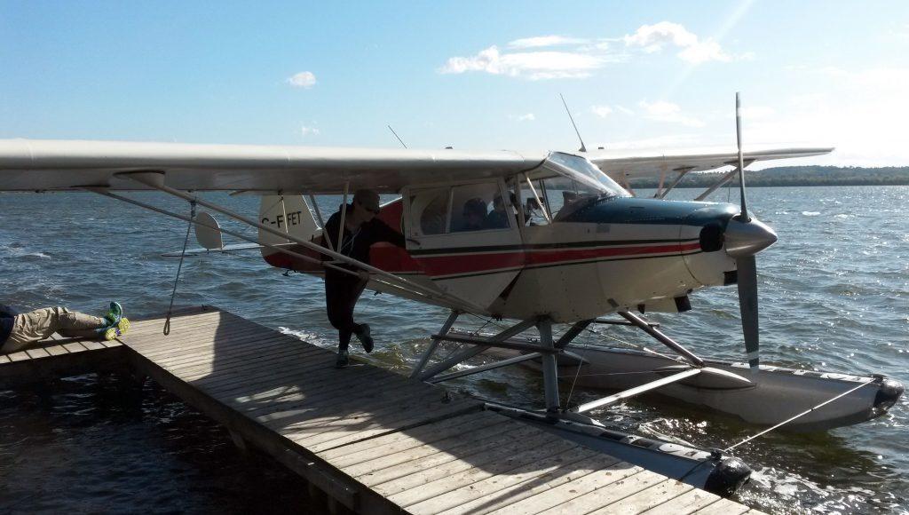 Float plane on Rice Lake at Elmhirst Resort (PA Photo/Abi Jackson)