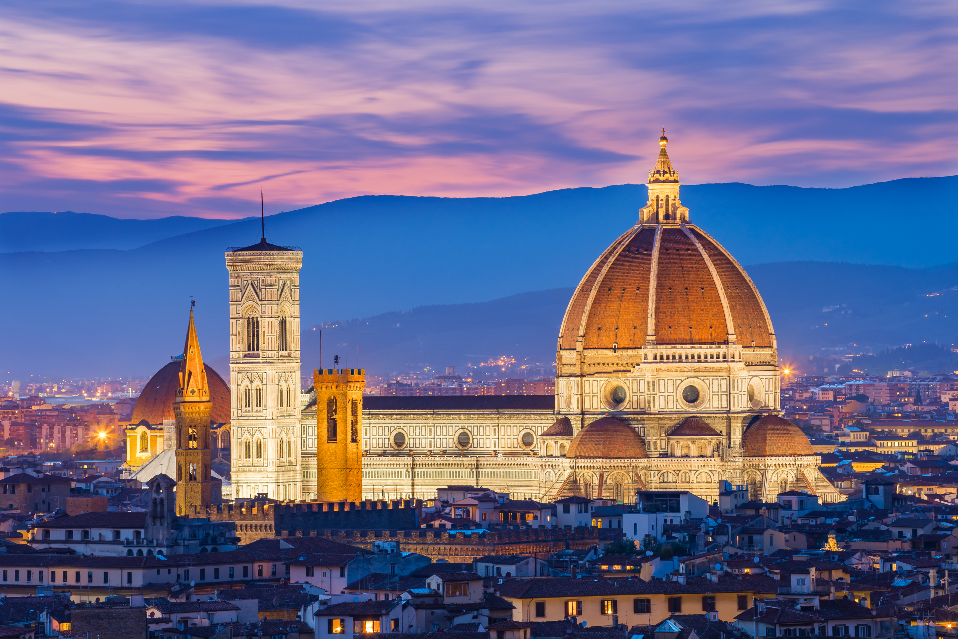 The twilight of Florence in Tuscany, Italy (Getty Images)