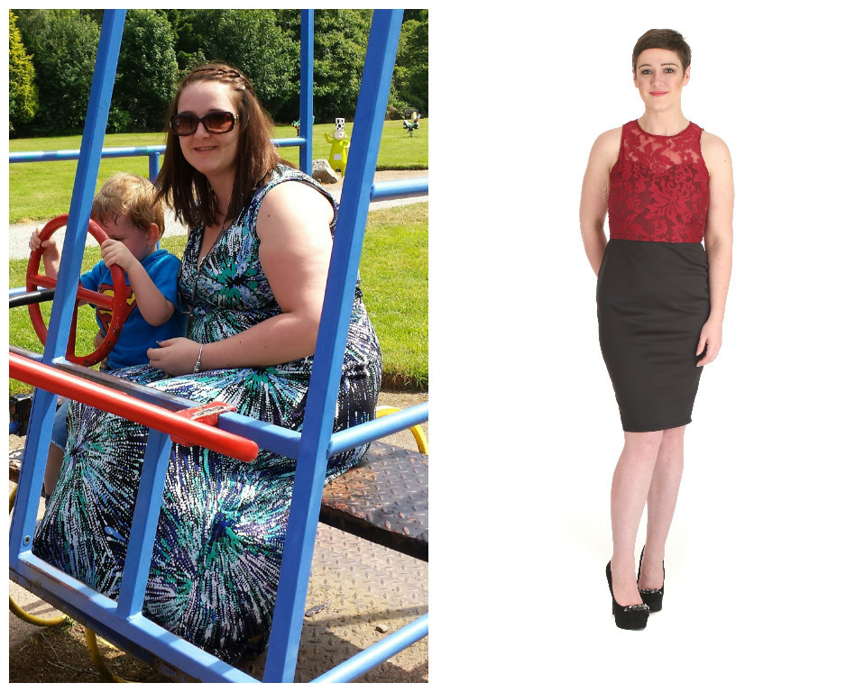 Stephanie (Before: 14 stone 2lb, dress size 16/18 and After: 10 stone 1lb, dress size 10/12 - Weight loss: 4 stone 1lb)