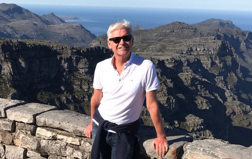 Phillip Schofield standing at Table Mountain, Cape Town (ITV)