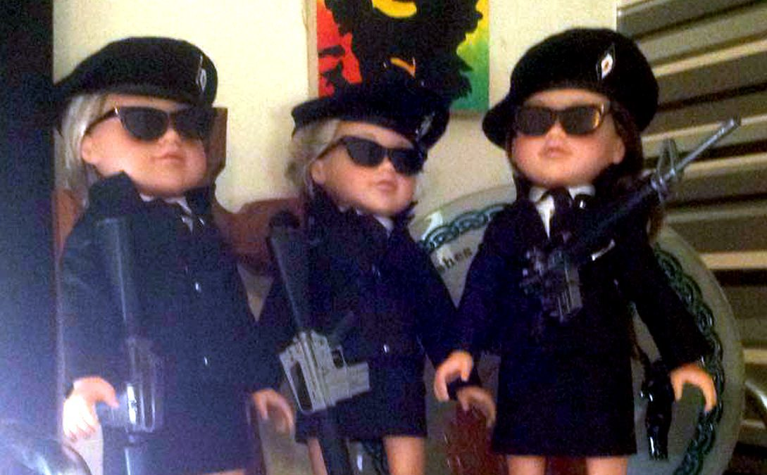 The dolls dressed like IRA members