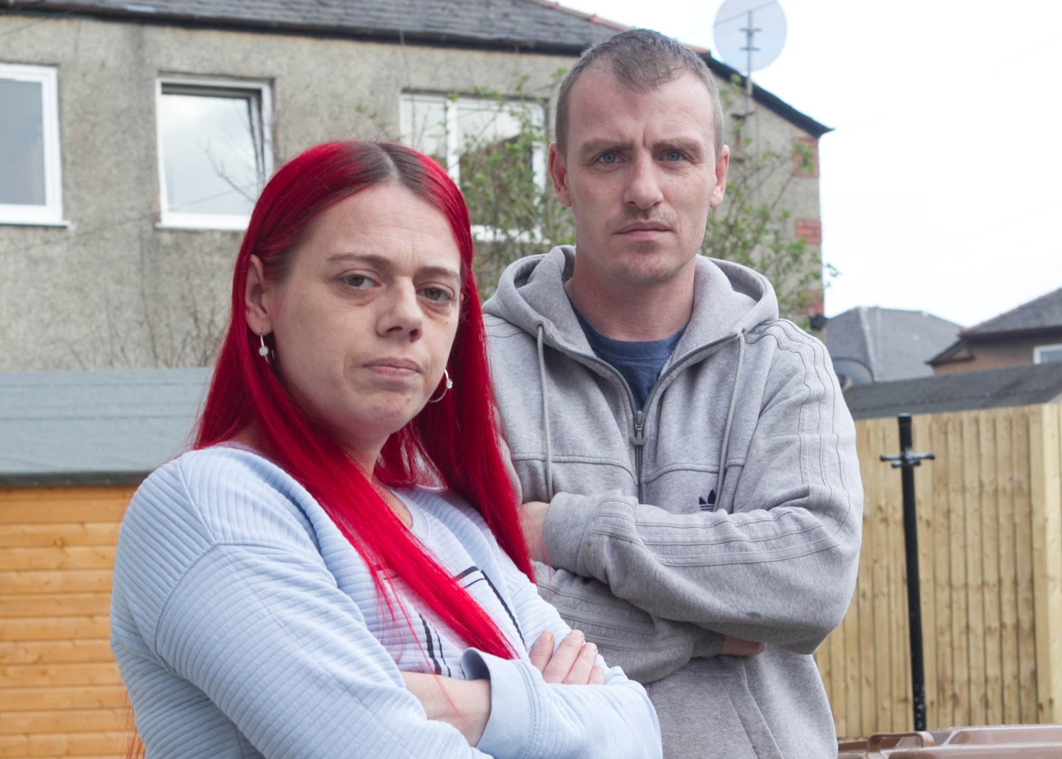 Annette McKenzie with partner Raymond. Annette's daughter Britney commited suicide after being given tablets from her GP. (Sunday Post)