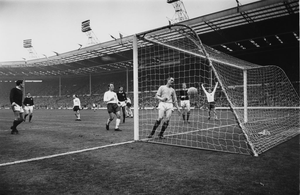 Hurst scores in 1967 (Larry Ellis/Express/Getty Images)