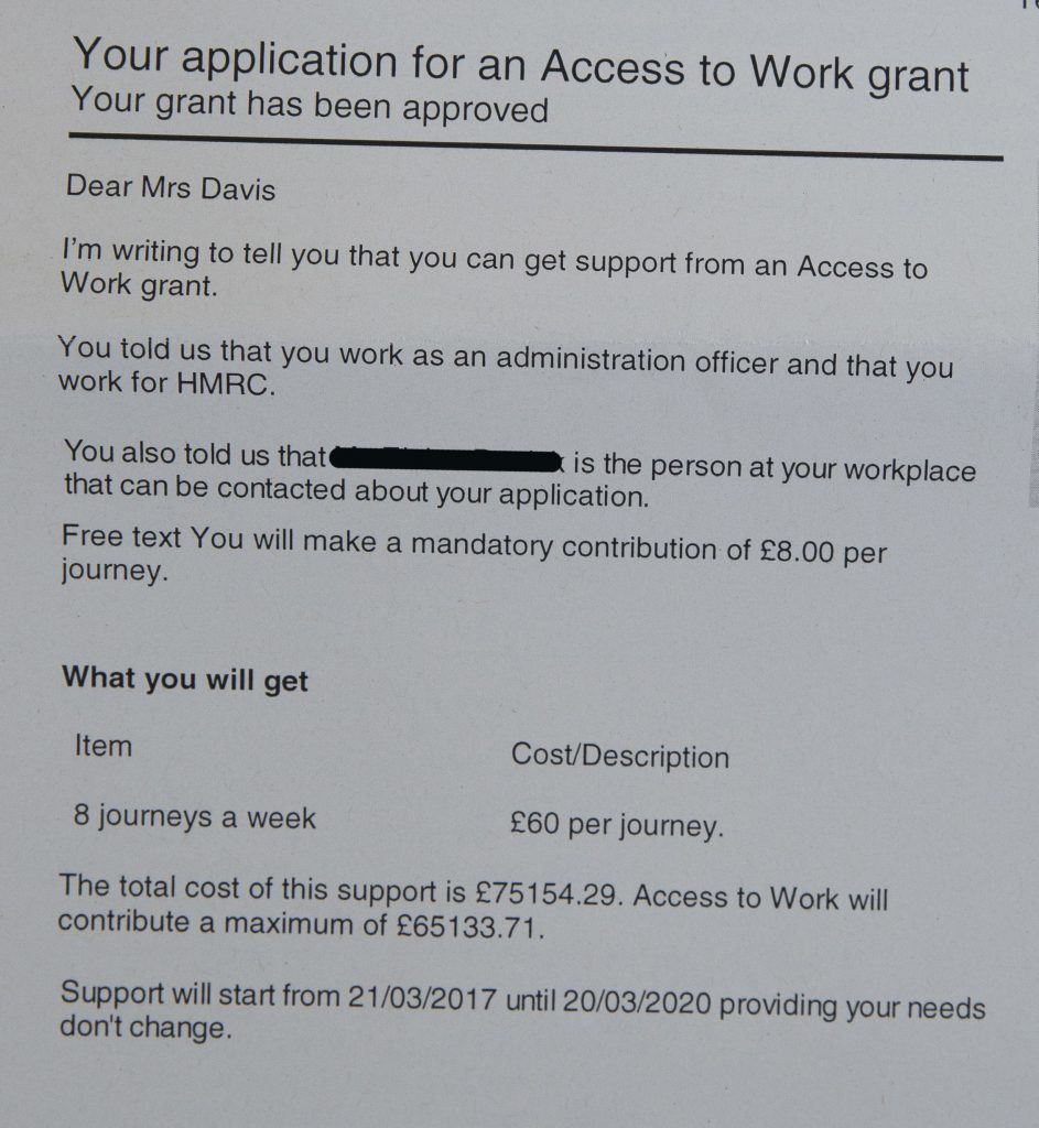 Janet Davis from Ayr has had her notability car grant refused in favour of a taxi to work grant which will cost £75,000 over 3 years....... Photograph © Jamie Williamson for more info please contact hello@jamiewilliamson.com or 07989437787