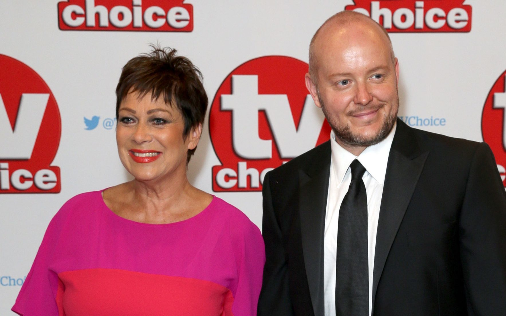 Denise Welch and her husband Lincoln Townle (Daniel Leal-Olivas/PA Wire)