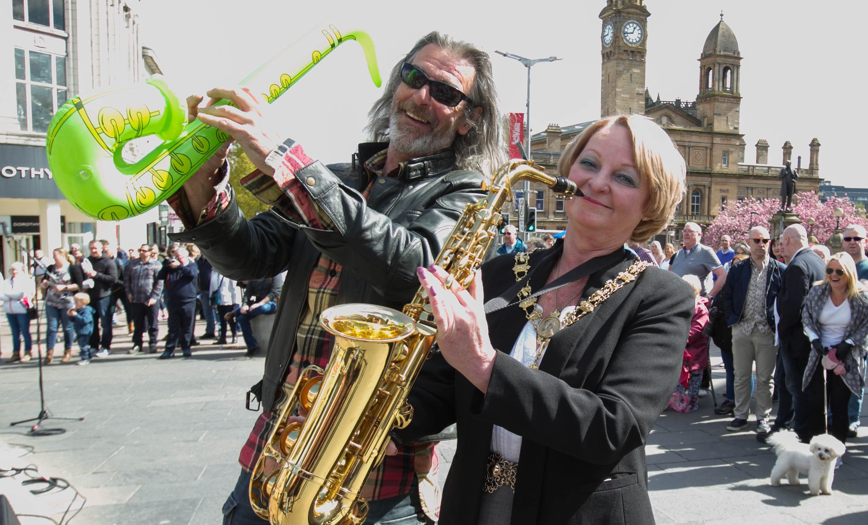 Lord Provost Anne Hall joins the event (Chris Austin / DC Thomson)