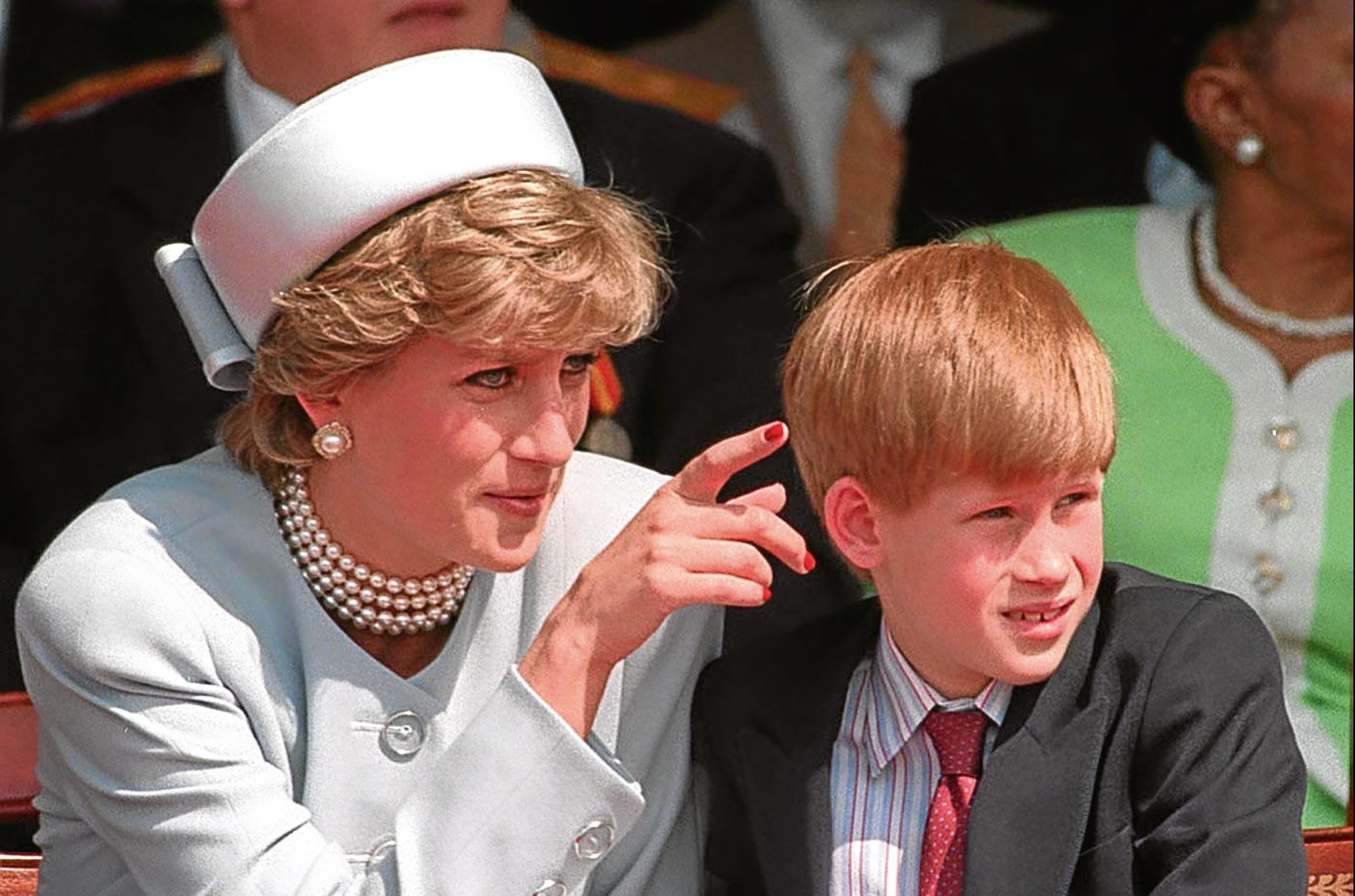 The Princess of Wales with her younger son Prince Harry (PA)