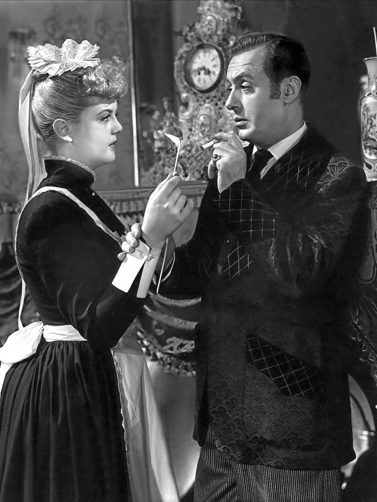 With Charles Boyer in 1944 film Gaslight (Allstar/MGM)