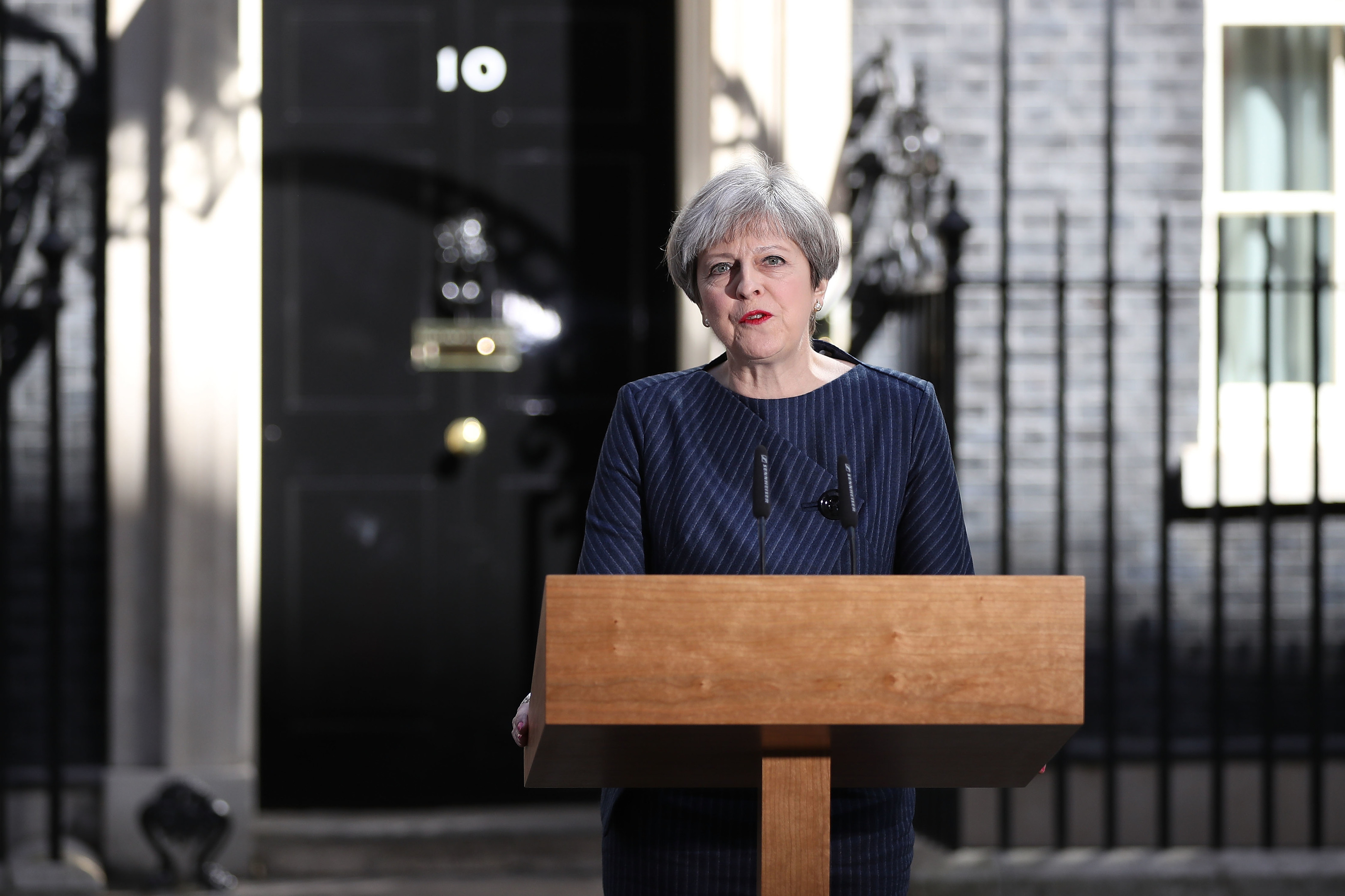 Prime Minister Theresa May makes a statement (Dan Kitwood/Getty Images)