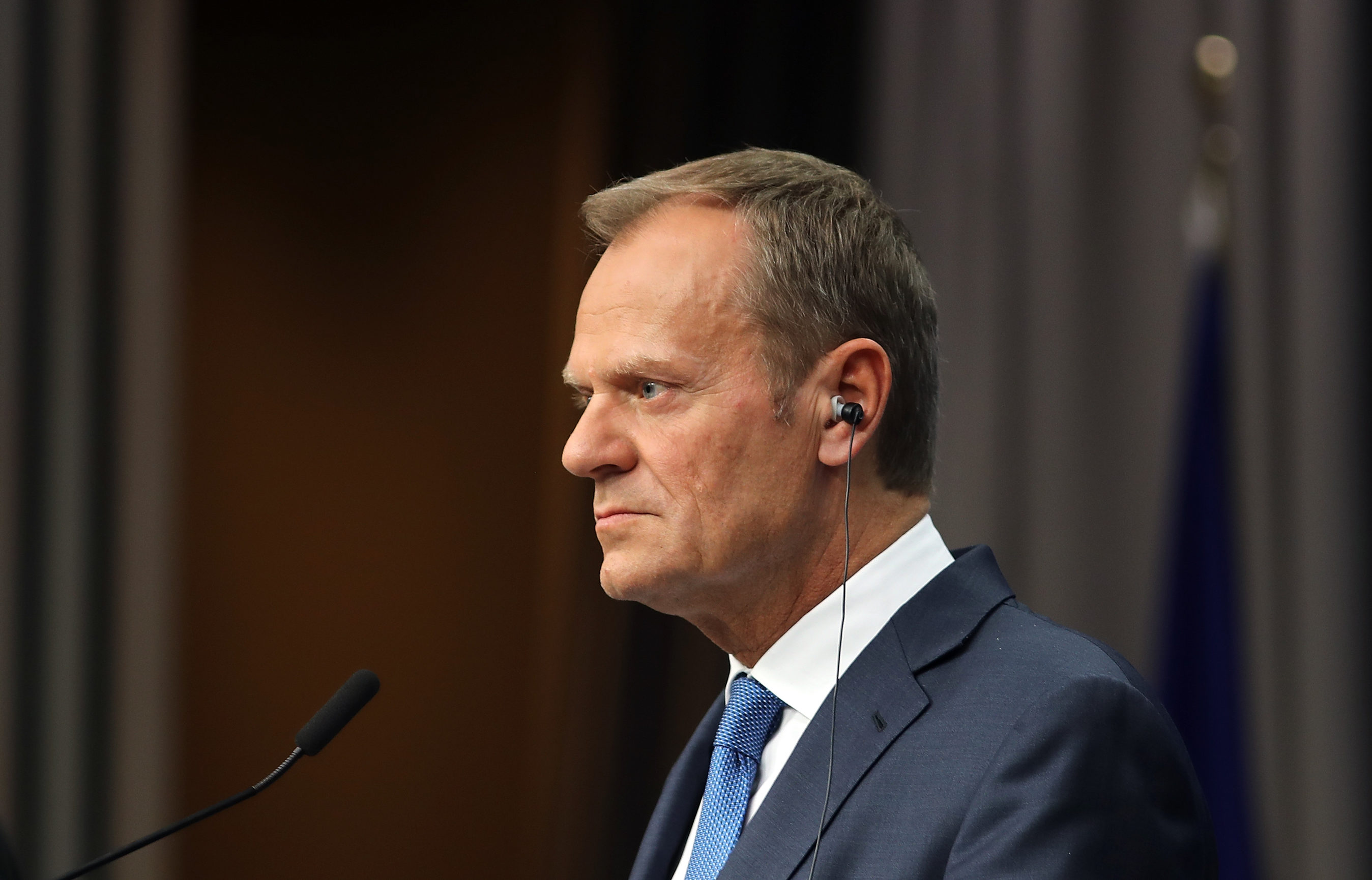 President of the European Council Donald Tusk speaks during a press conference after an EU Council meeting (Dan Kitwood/Getty Images)