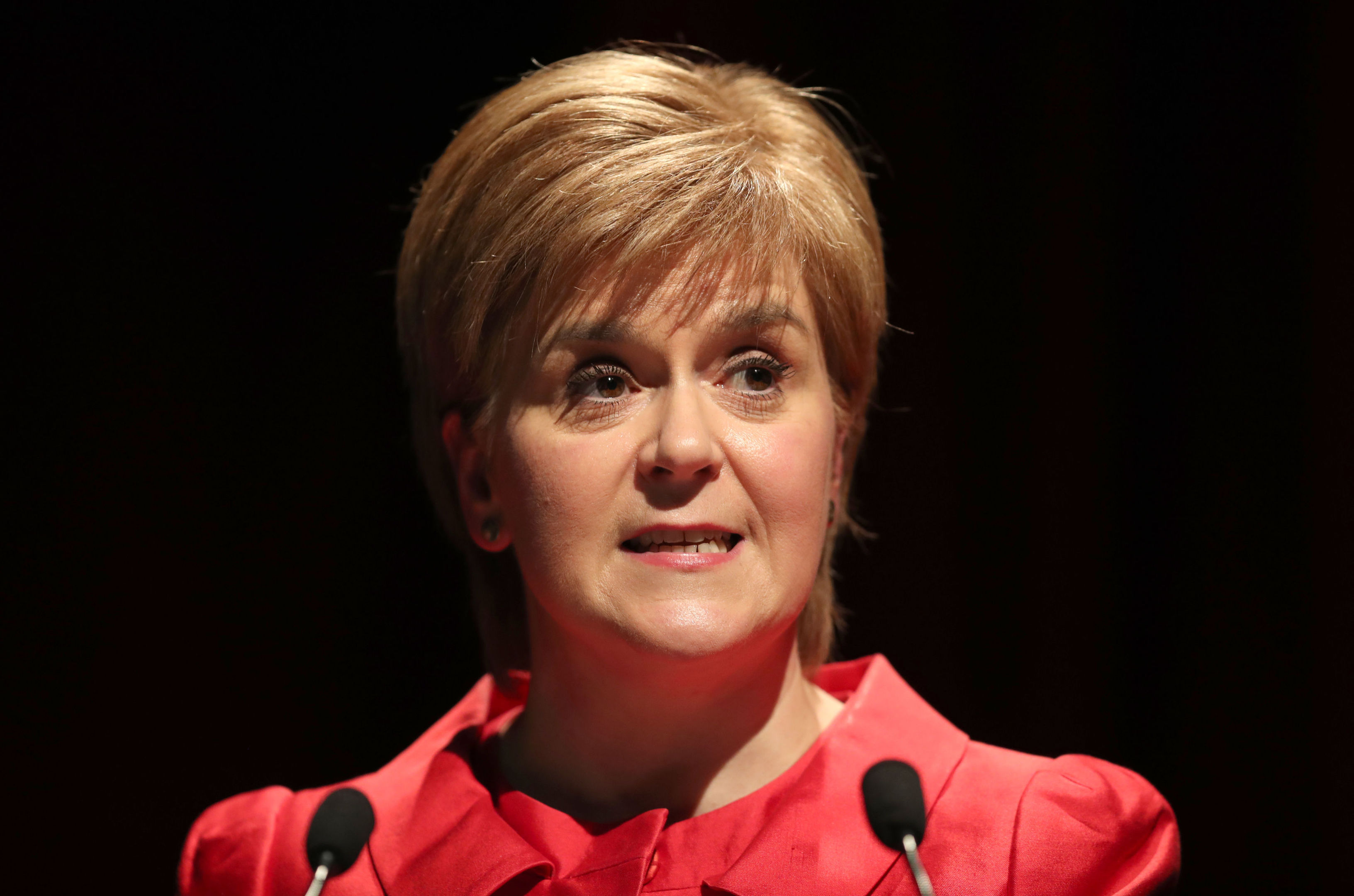 "Scotland's First Minister Nicola Sturgeon said the Conservatives must not be given a ""free hand to do whatever they want to Scotland"" on June 8. (Jane Barlow/PA Wire)"