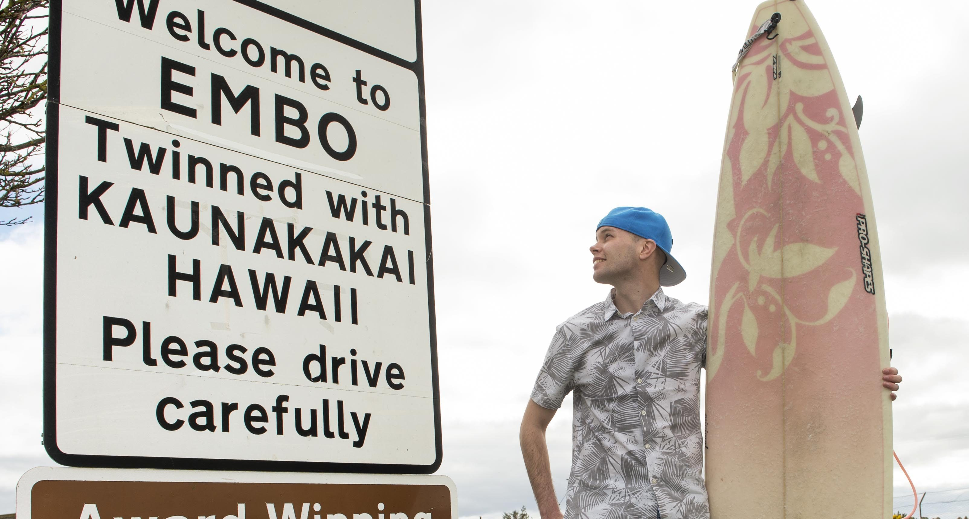 Our reporter Stuart Findlay brings a bit of Hawaii to Embo (Trevor Martin Photography)