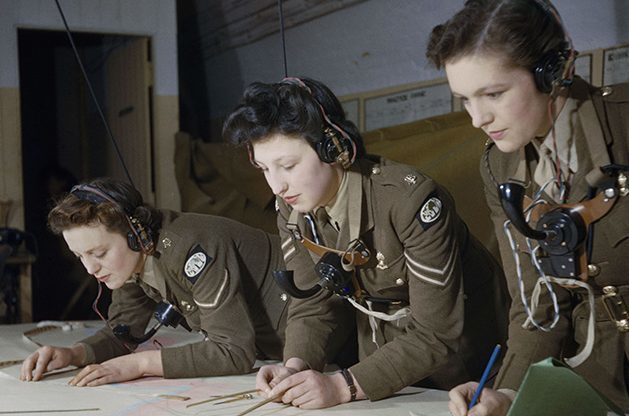Auxiliary Territorial Service (ATS) plotters at work at Coastal Artillery Headquarters in Dover, December 1942 (Ted Dearberg/IWM/PA Wire)