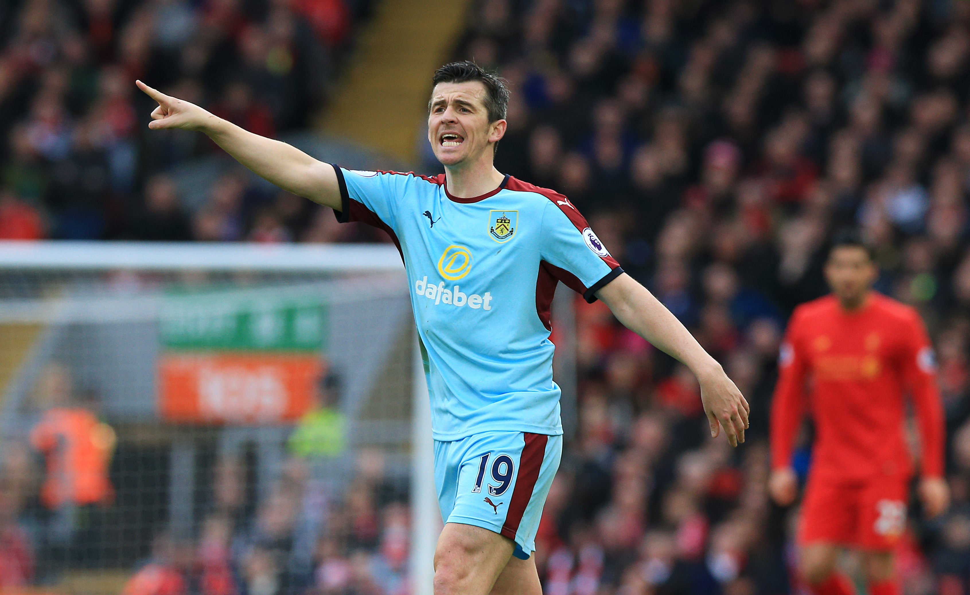 Joey Barton during the Premier League match at Anfield, Liverpool (PA)
