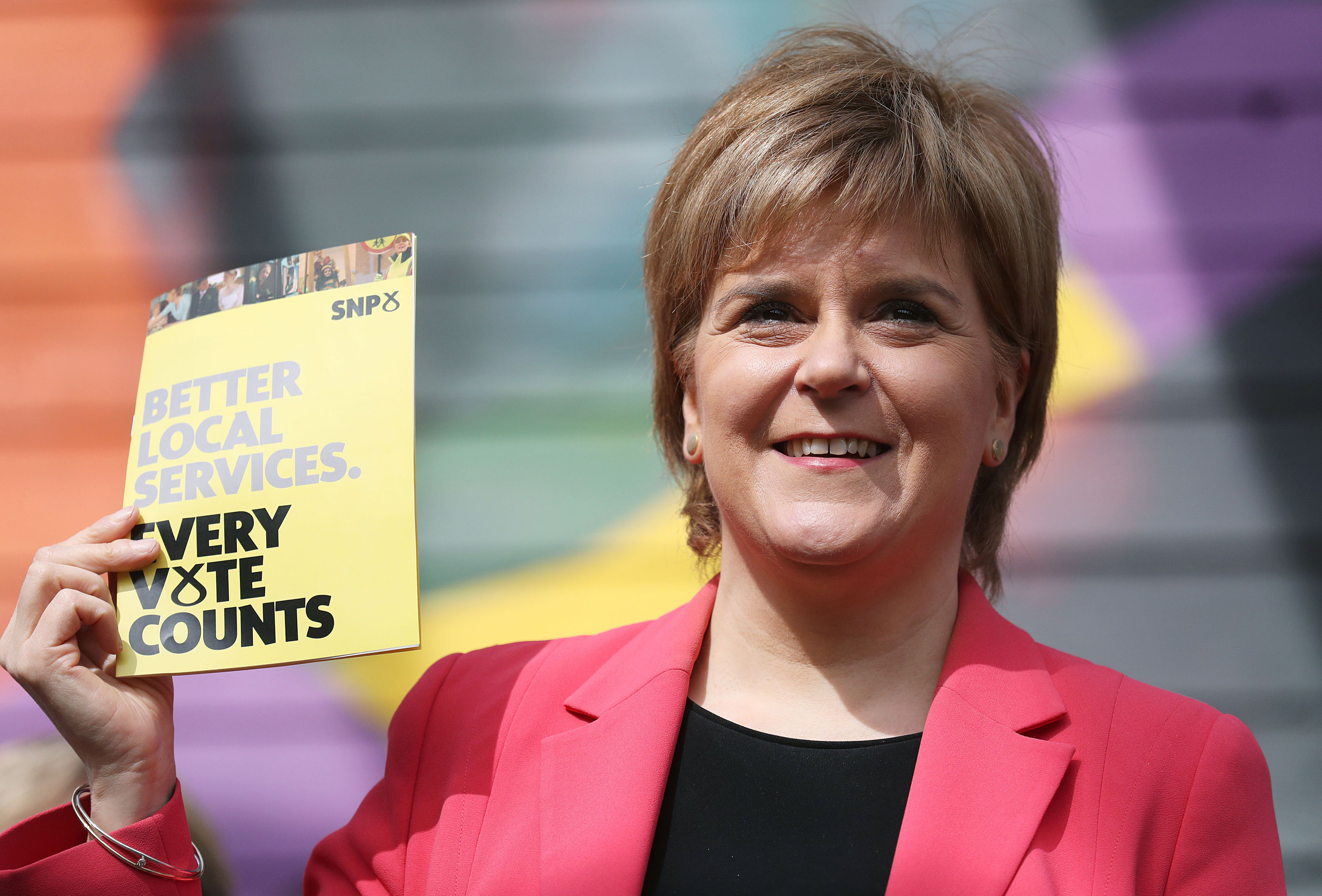 Nicola Sturgeon during the launch of the party's local government election manifesto at the Whale Arts Centre in Edinburgh. (Andrew Milligan/PA Wire)