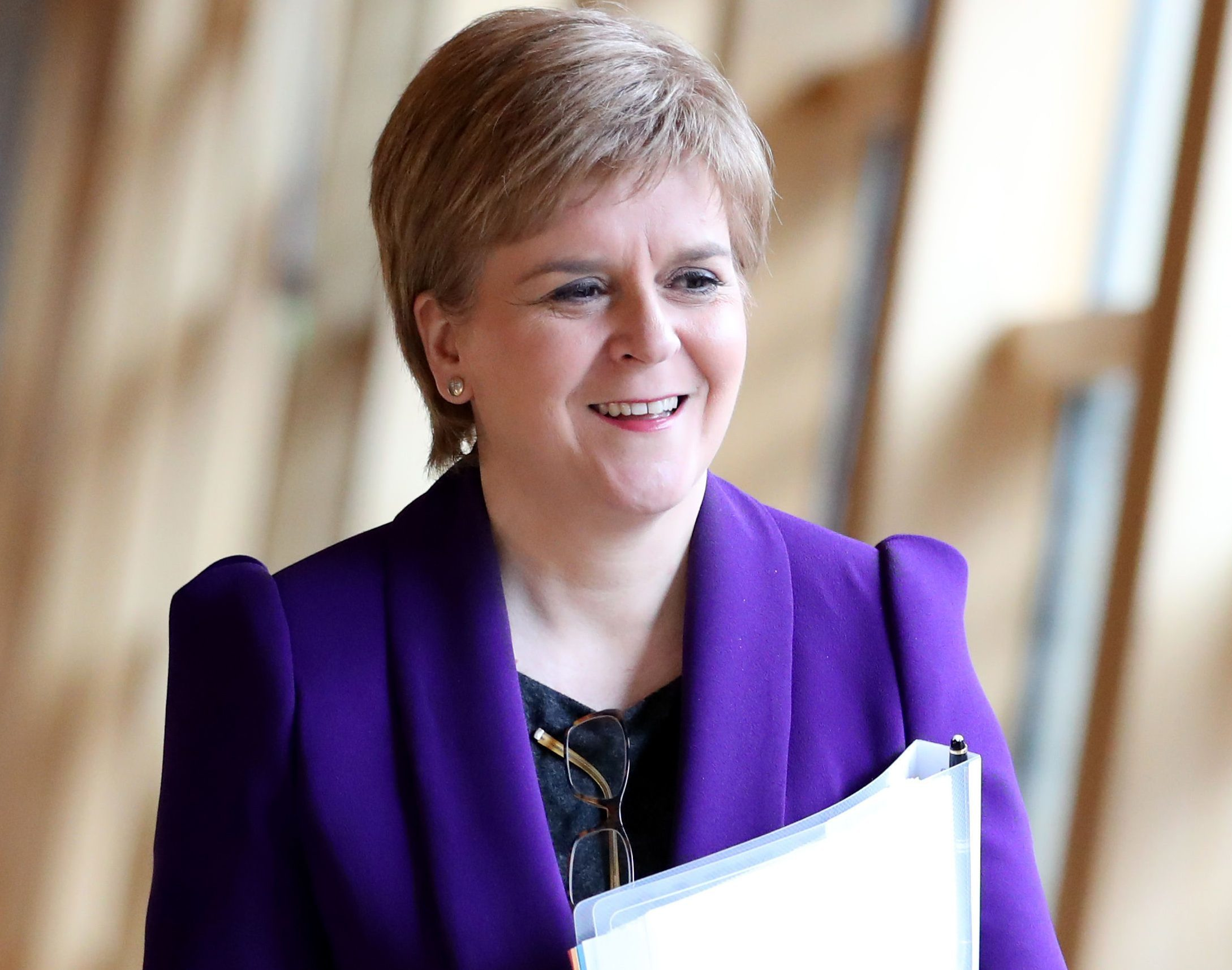 """First Minister Nicola Sturgeon, who has said she is """"fairly certain"""" there will be a second referendum on Scottish independence - but she does not think Britons will get another chance to vote on remaining in the European Union. (Jane Barlow/PA Wire)"""
