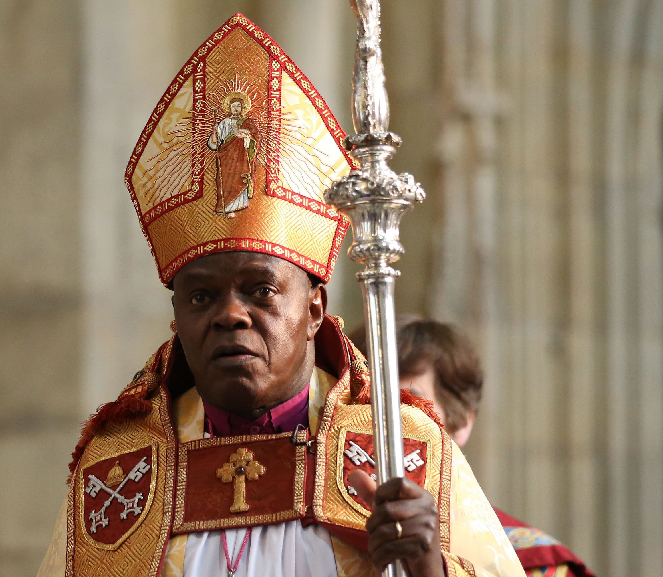 "Dr Sentamu accused the chocolate giant of ""spitting on the grave"" of its religious founder by removing references to Christianity's most sacred festival from the spring event it runs nationwide with the conservation charity. (Lynne Cameron/PA Wire)"