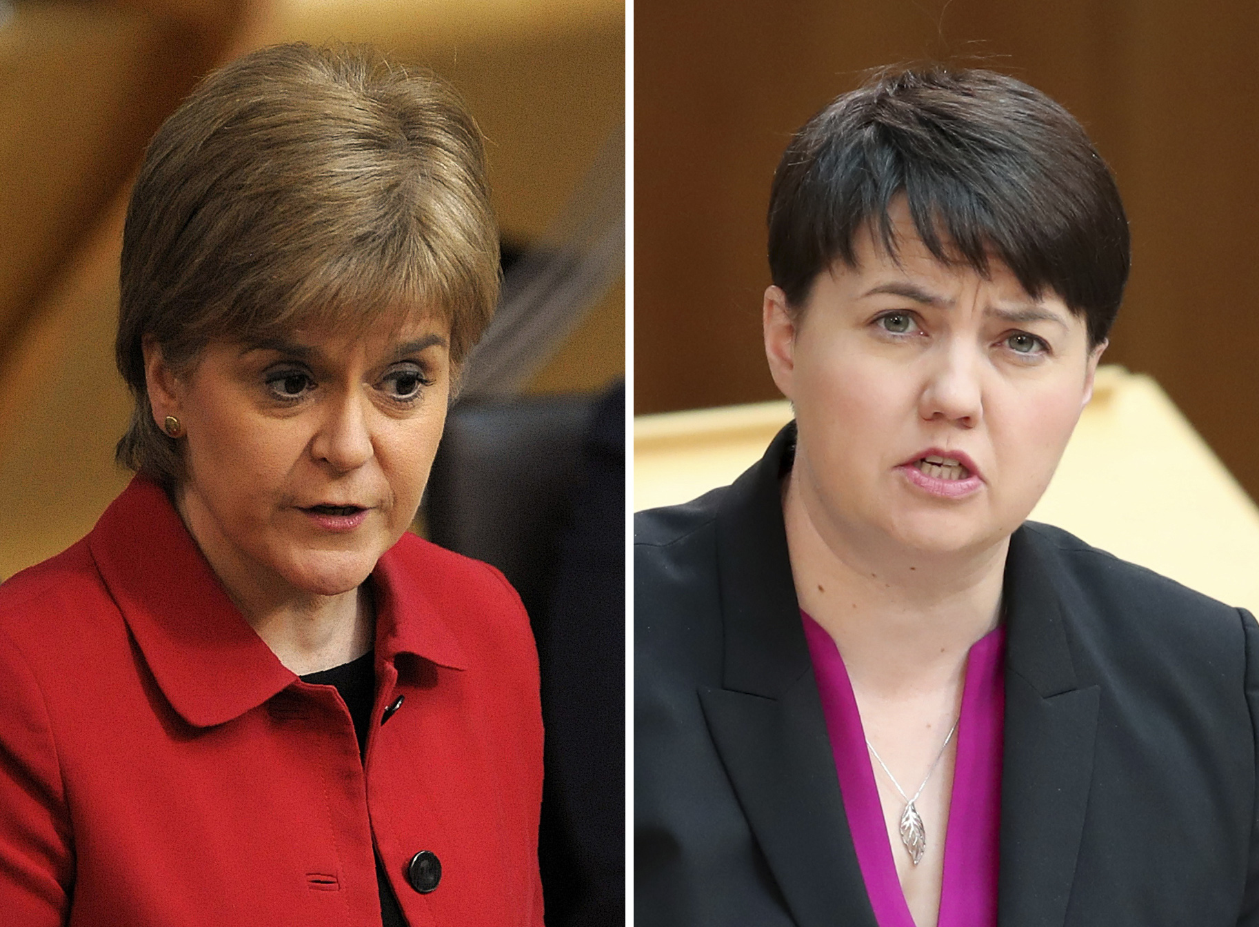 First Minister Nicola Sturgeon (left) and Scottish Conservative party leader Ruth Davidson. (PA Wire)