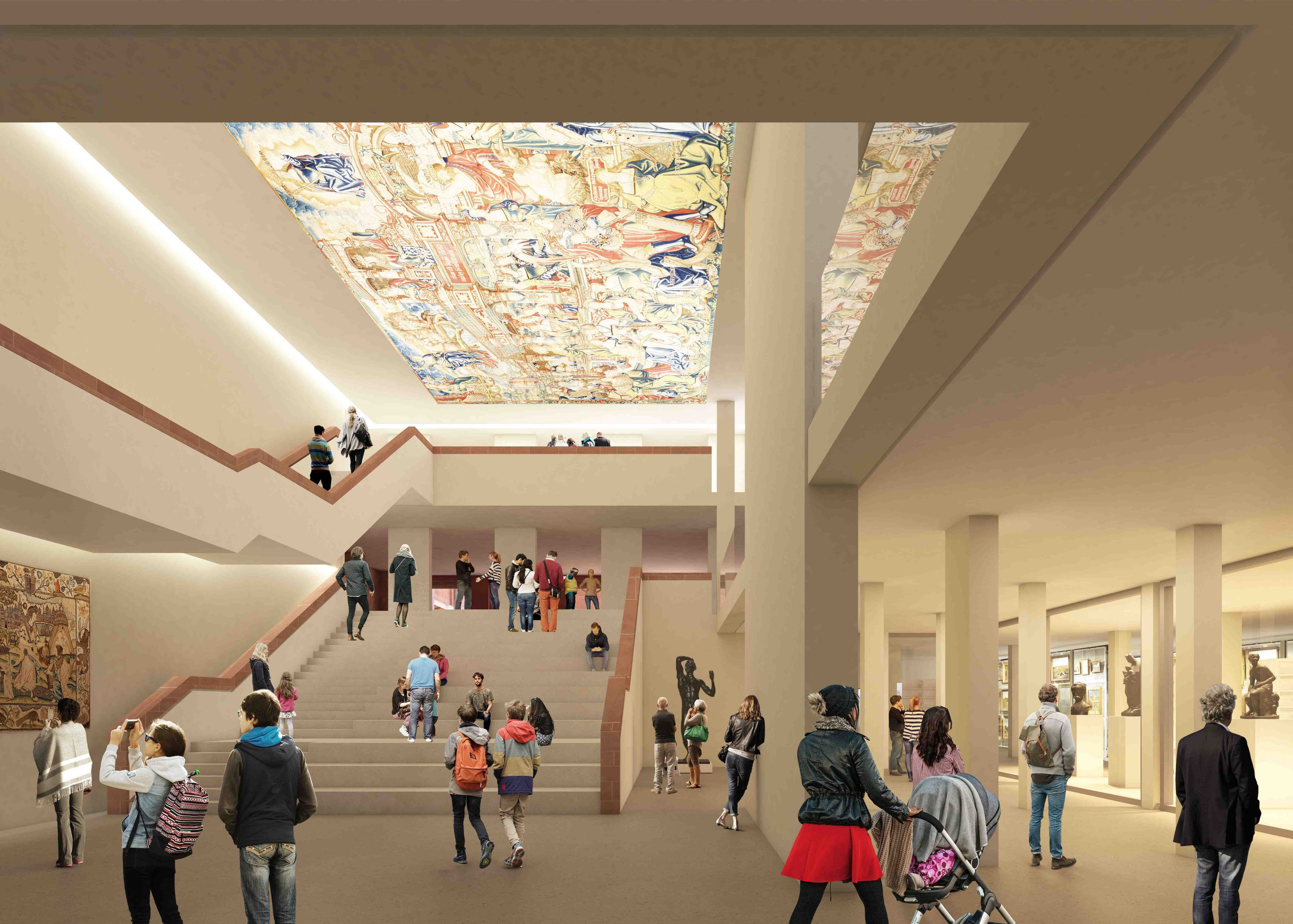 Artist's impression of the Burrell Collection by John McAslan + Partners, as the museum which houses almost 9,000 artworks collected by shipping merchant Sir William Burrell won planning approval for a £66 million refurbishments (John McAslan + Partners/PA Wire)