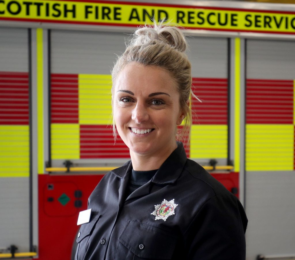 Former Scotland, Celtic and Rangers footballer Rhonda Jones who is one of the 101 new full-time firefighters (Jane Barlow/PA Wire)