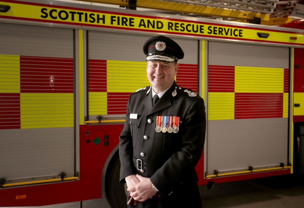 Chief Officer Alasdair Hay after taking part in the firefighter graduation ceremony (Jane Barlow/PA Wire)