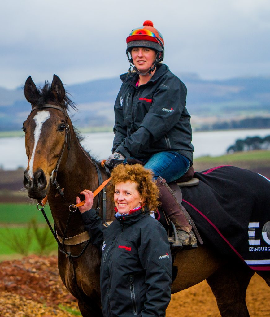 Lucinda Russell with the horse (Steve MacDougall / DC Thomson).