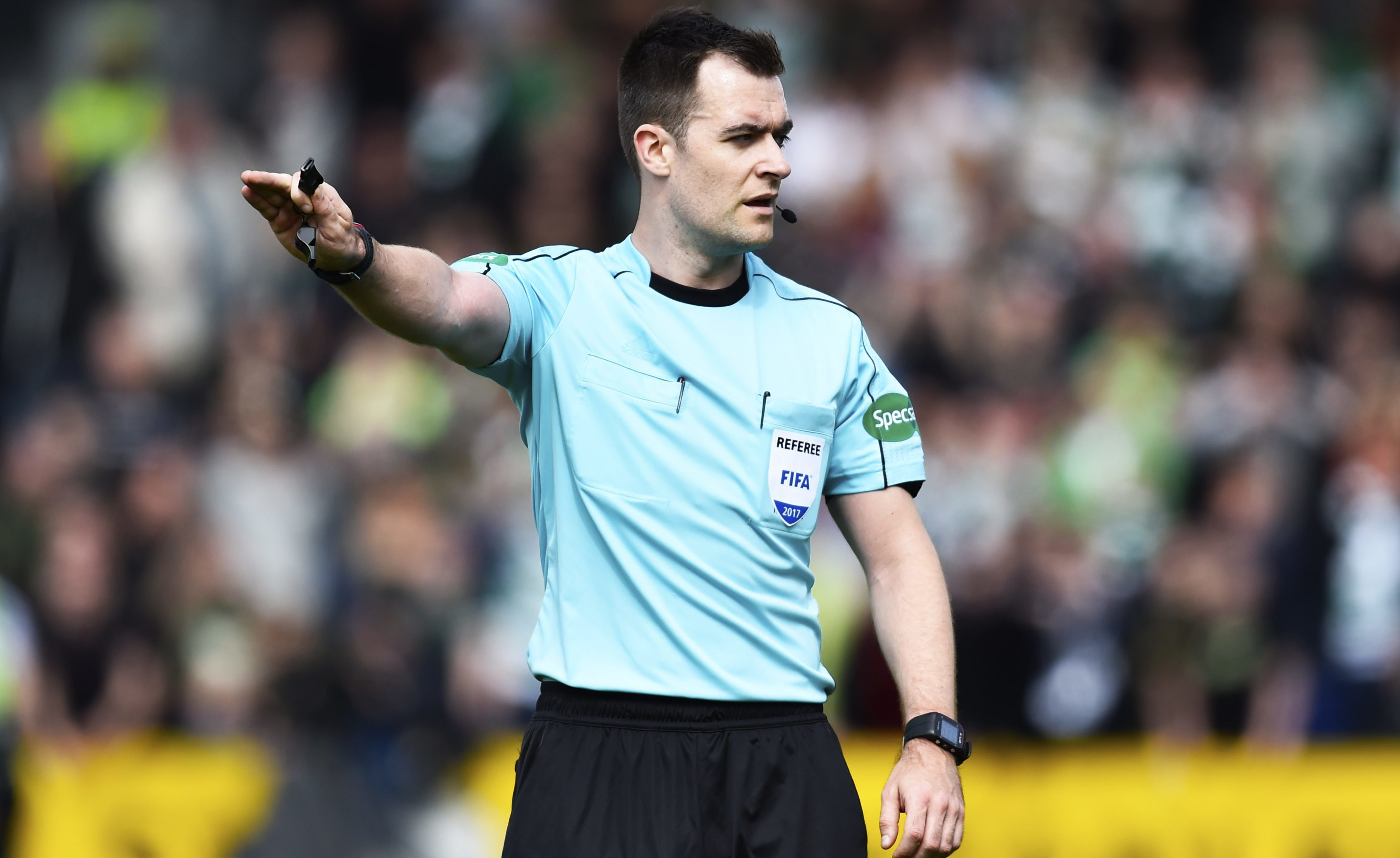 Referee Don Robertson came under fire after awarding Ross County a penalty (SNS Group)