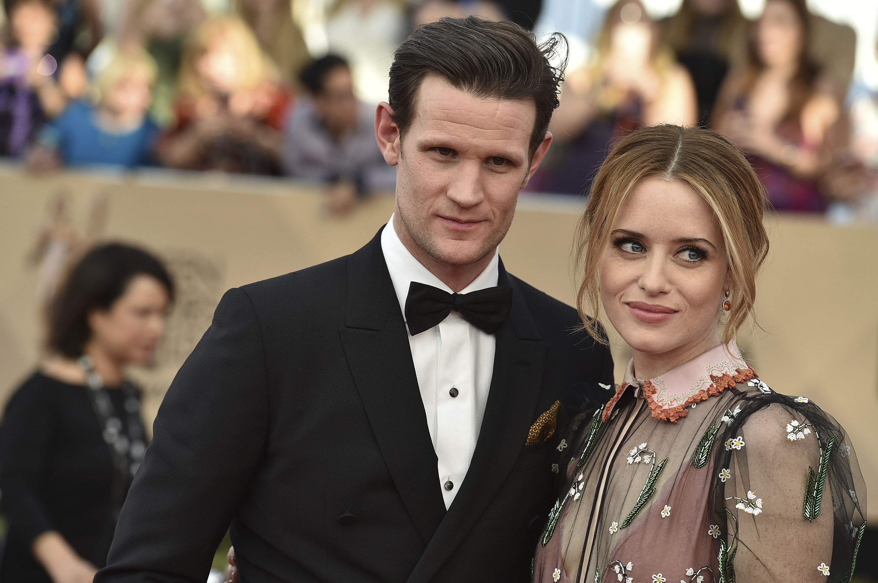 Matt Smith, left, and Claire Foy at the 23rd annual Screen Actors Guild Awards (Jordan Strauss/Invision/AP)