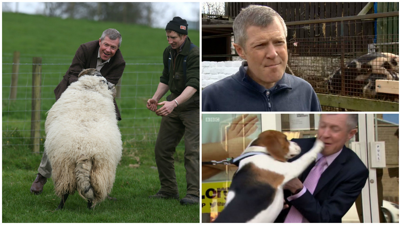 Willie Rennie has had some trouble with animals during election campaigns