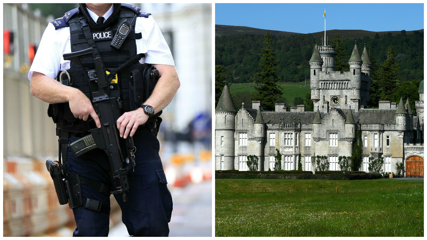 Protecting the Royals when they visit places like Balmoral involve hundreds of officers.