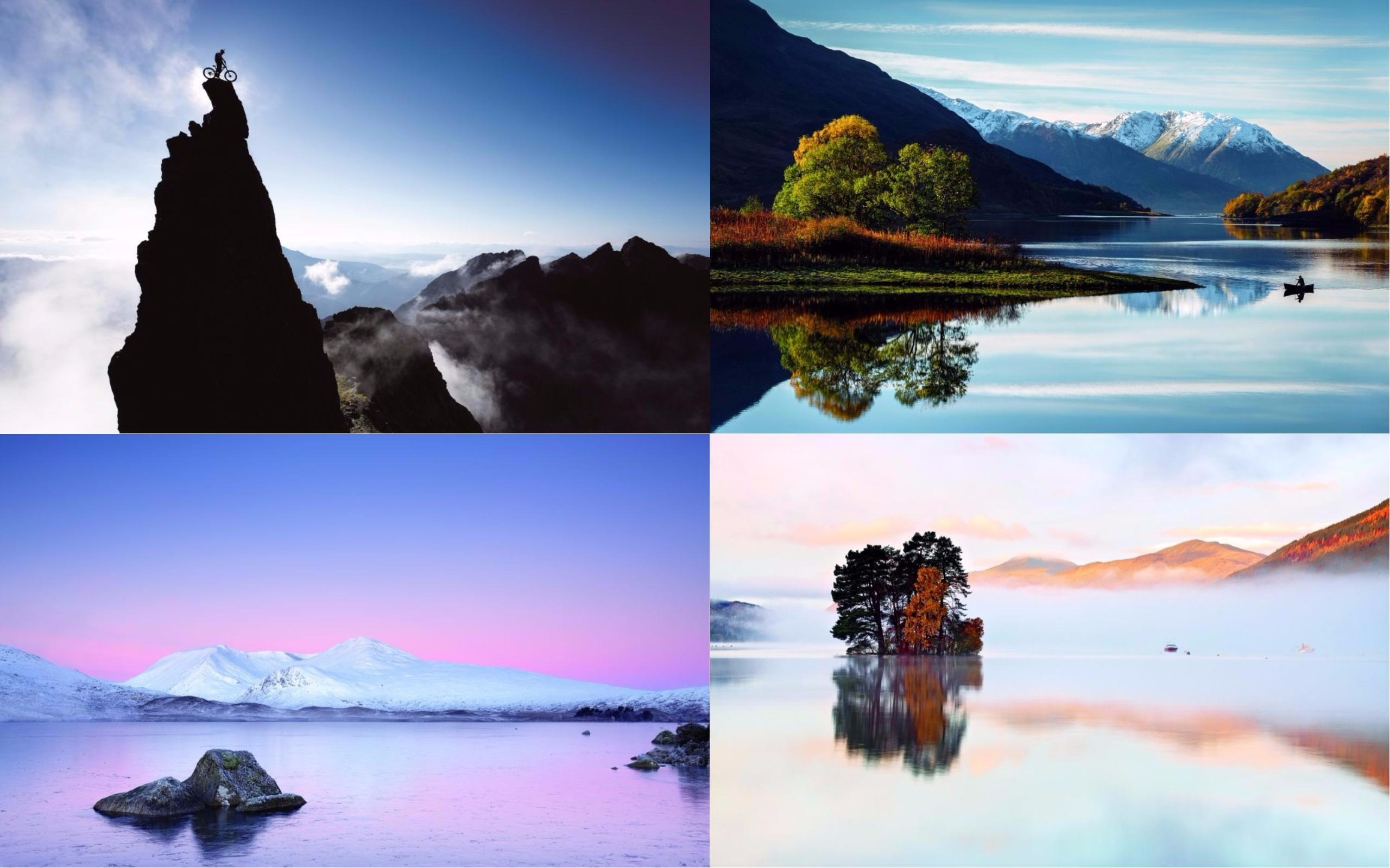 Landscape Photographer of the Year - from top left pics by Chris Prescott, Dave Bowman, Paul Sutton and Peter Ribbeck