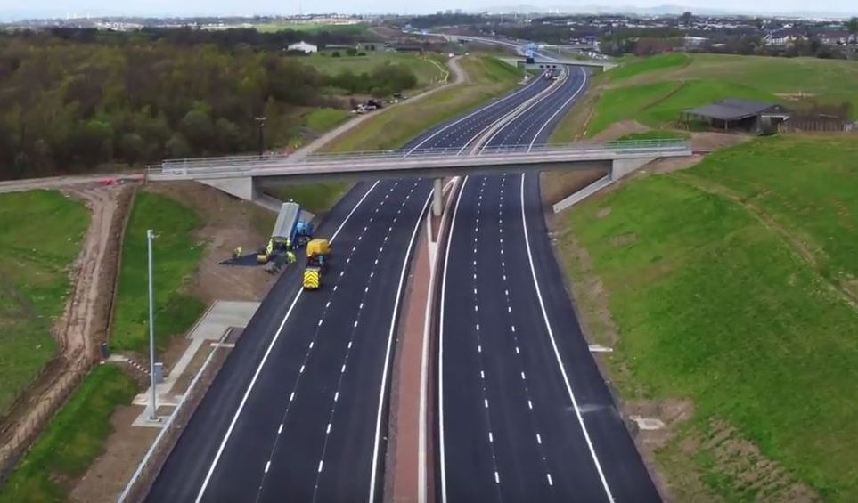 The new stretch of the M8 (Transport Scotland)