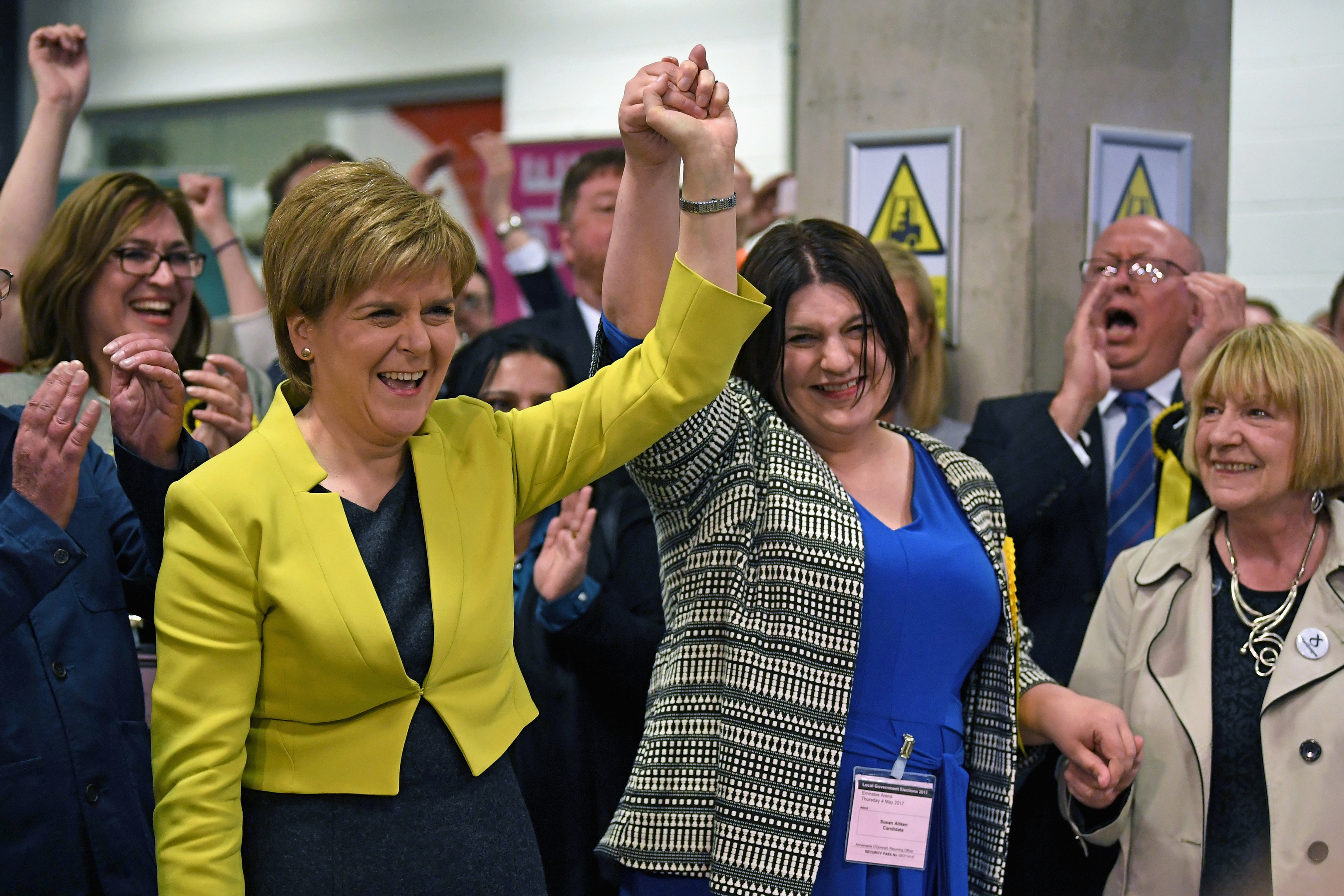First minister Nicola Sturgeon (L) and Susan Aitken (Jeff J Mitchell/Getty Images)