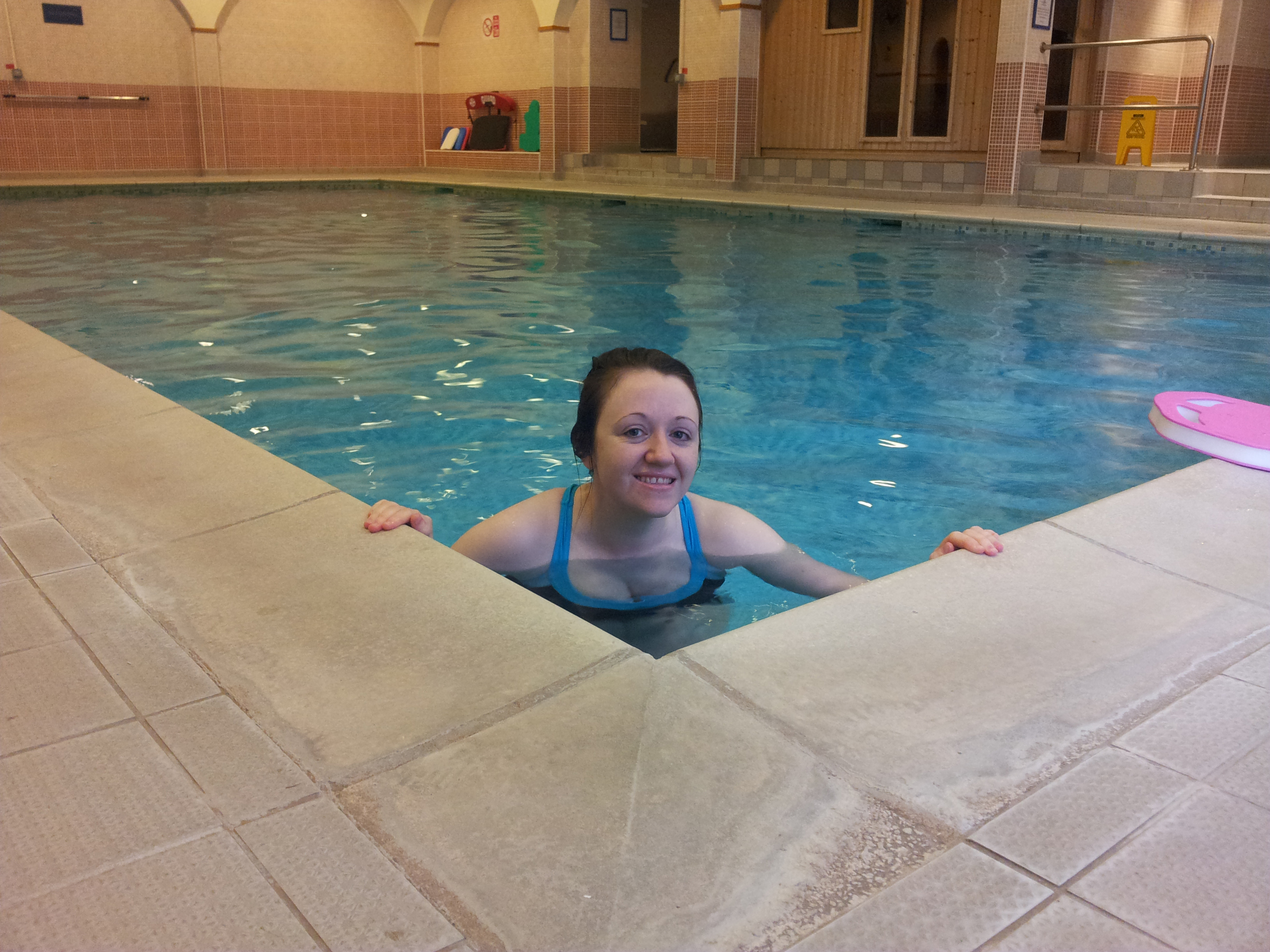 Paula McGuire, who was terrified of water, but has now decided to swim around the UK