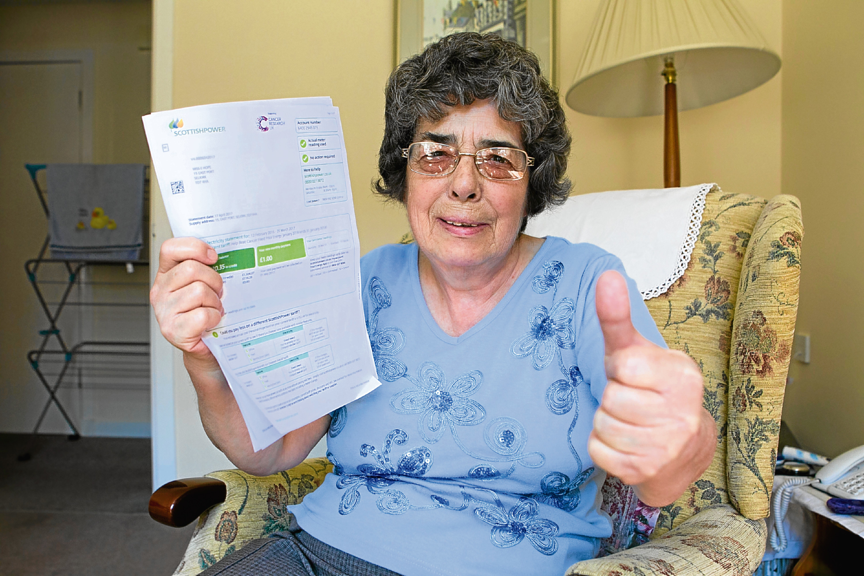 Evelyn Hope, who Raw Deal helped claim back money from Scottish Power (Andrew Cawley / DC Thomson)