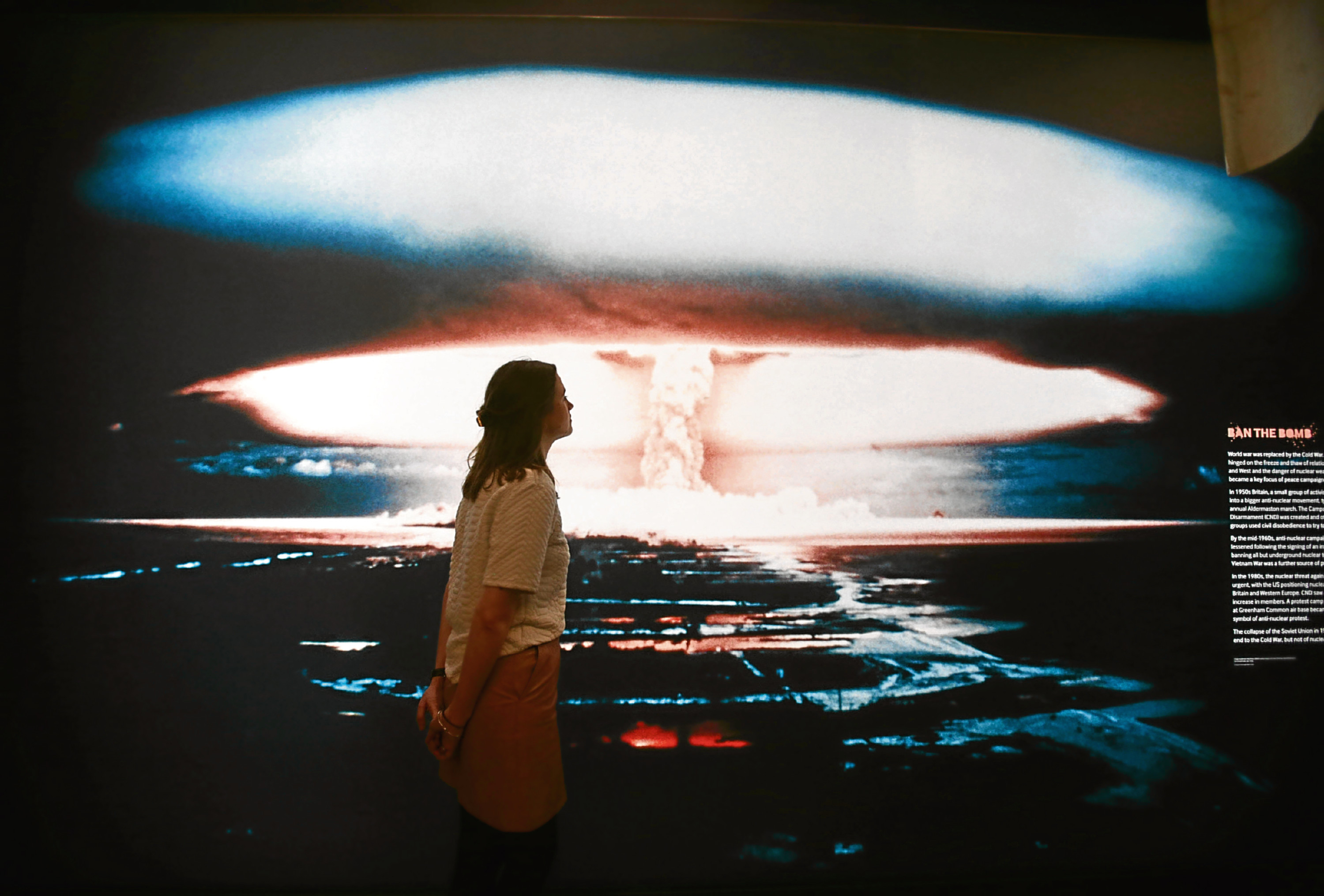 A photograph of a large mushroom cloud from a British nuclear weapon test near Christmas Island (Kiriimati) in the central Pacific in the late 1950s (Yui Mok/PA Wire)
