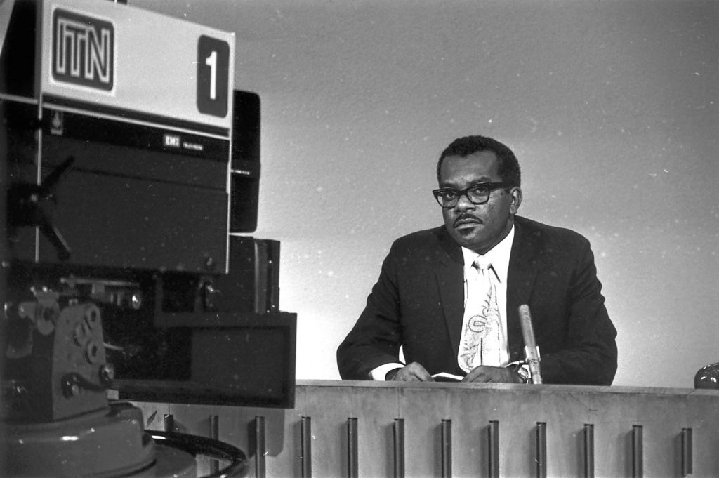 Trevor MacDonald joined ITN as a reporter after working for the BBC on the Caribbean Service. (Keystone/Getty Images)