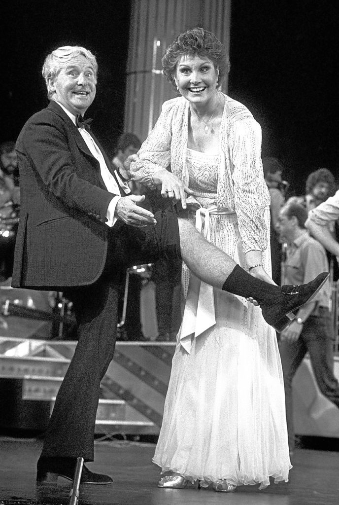 Comedian Ernie Wise and Angela Rippon (PA)