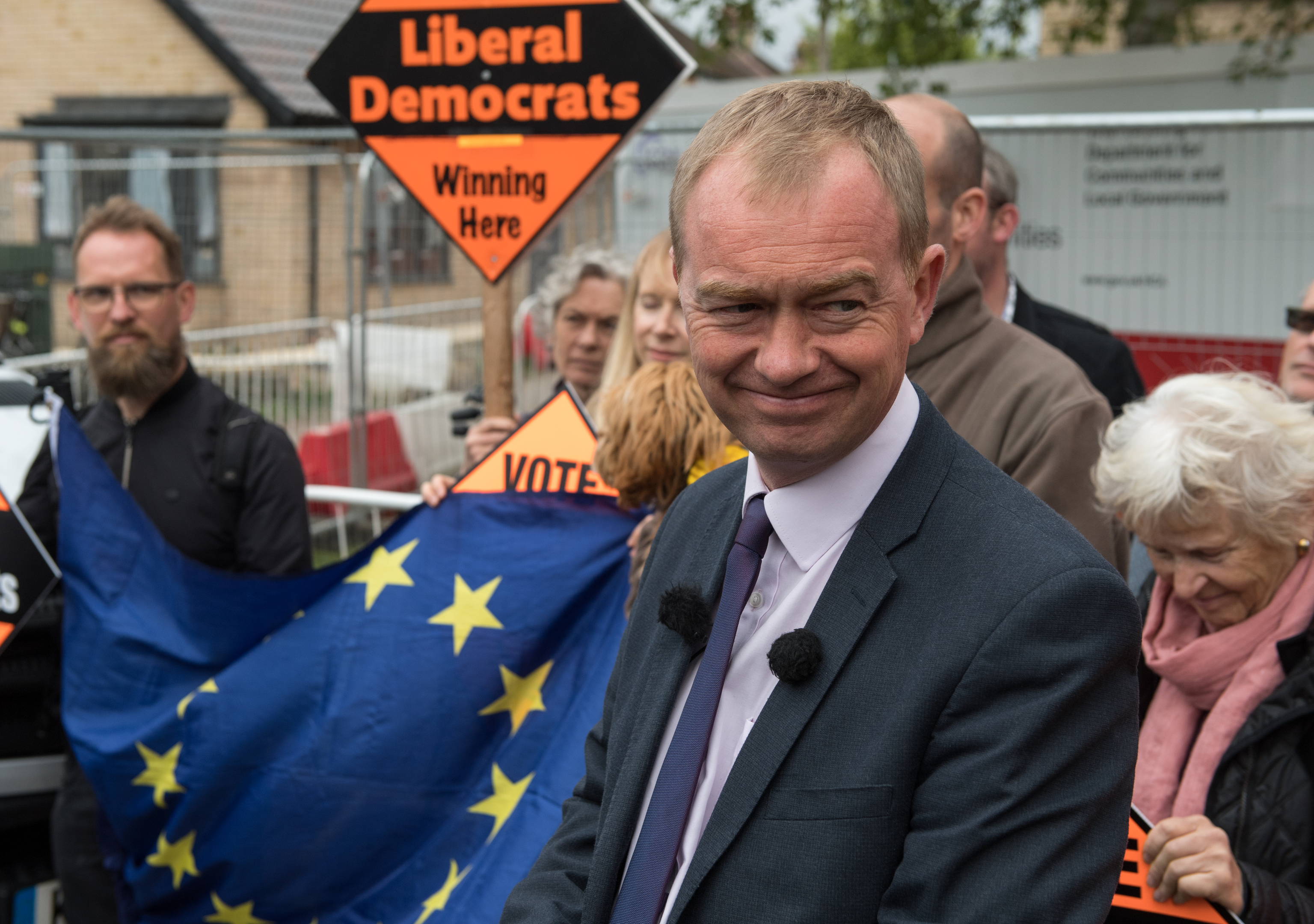 Liberal Democrats party leader Tim Farron speaks whilst campaigning (Chris J Ratcliffe/Getty Images)