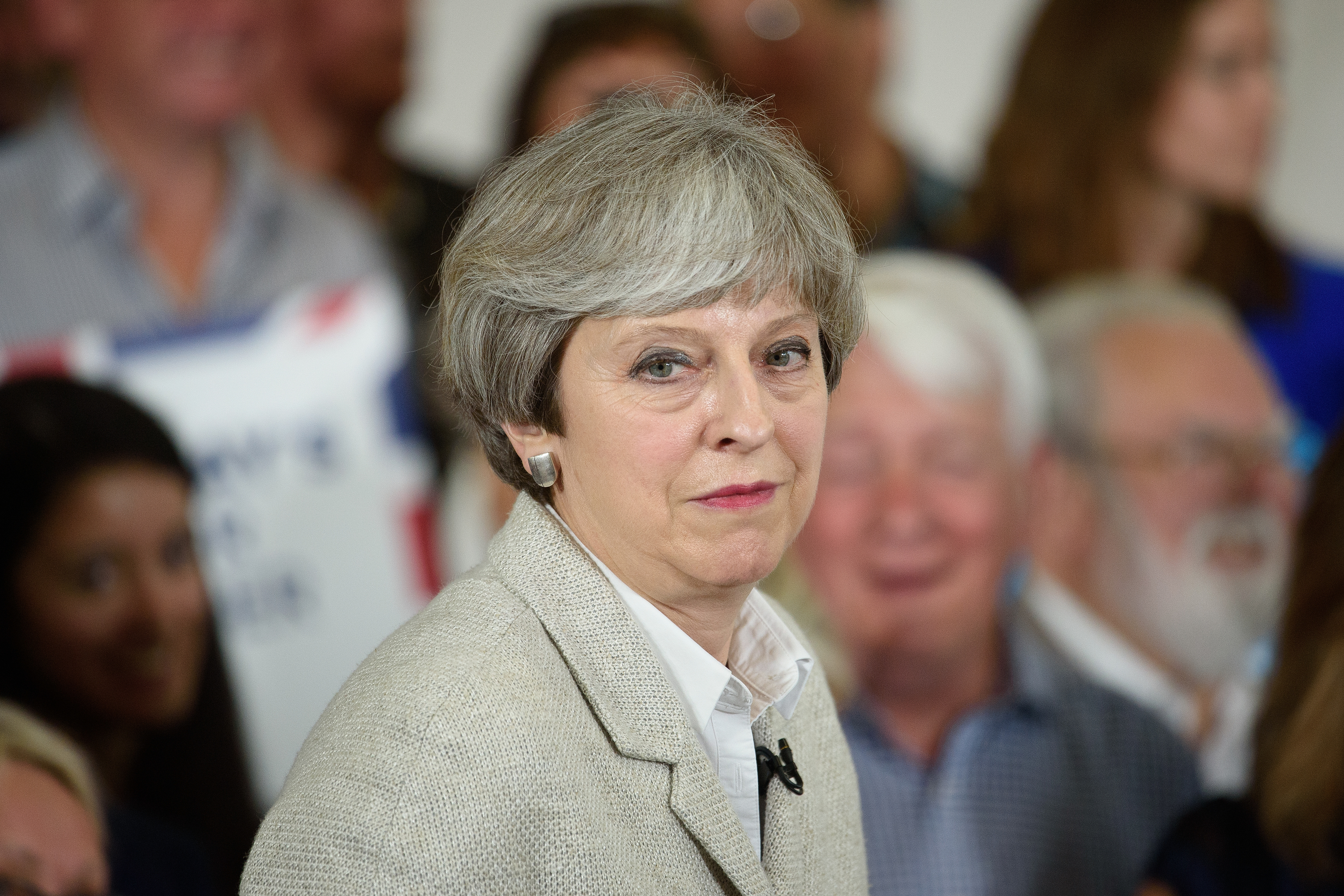 Theresa May claims Jeremy Corbyn would be alone and naked