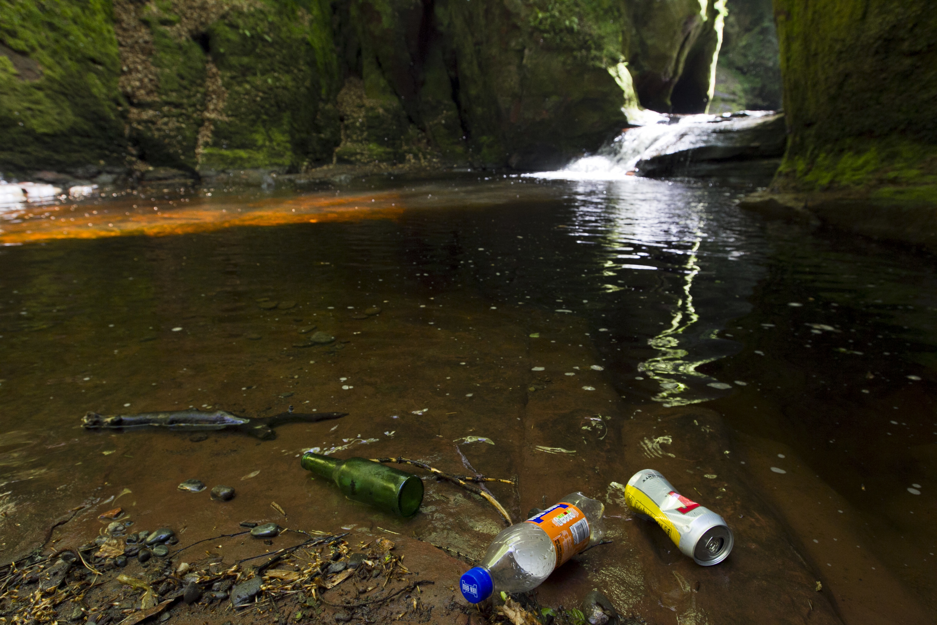 Litter has blighted places like the Devil's Pulpit
