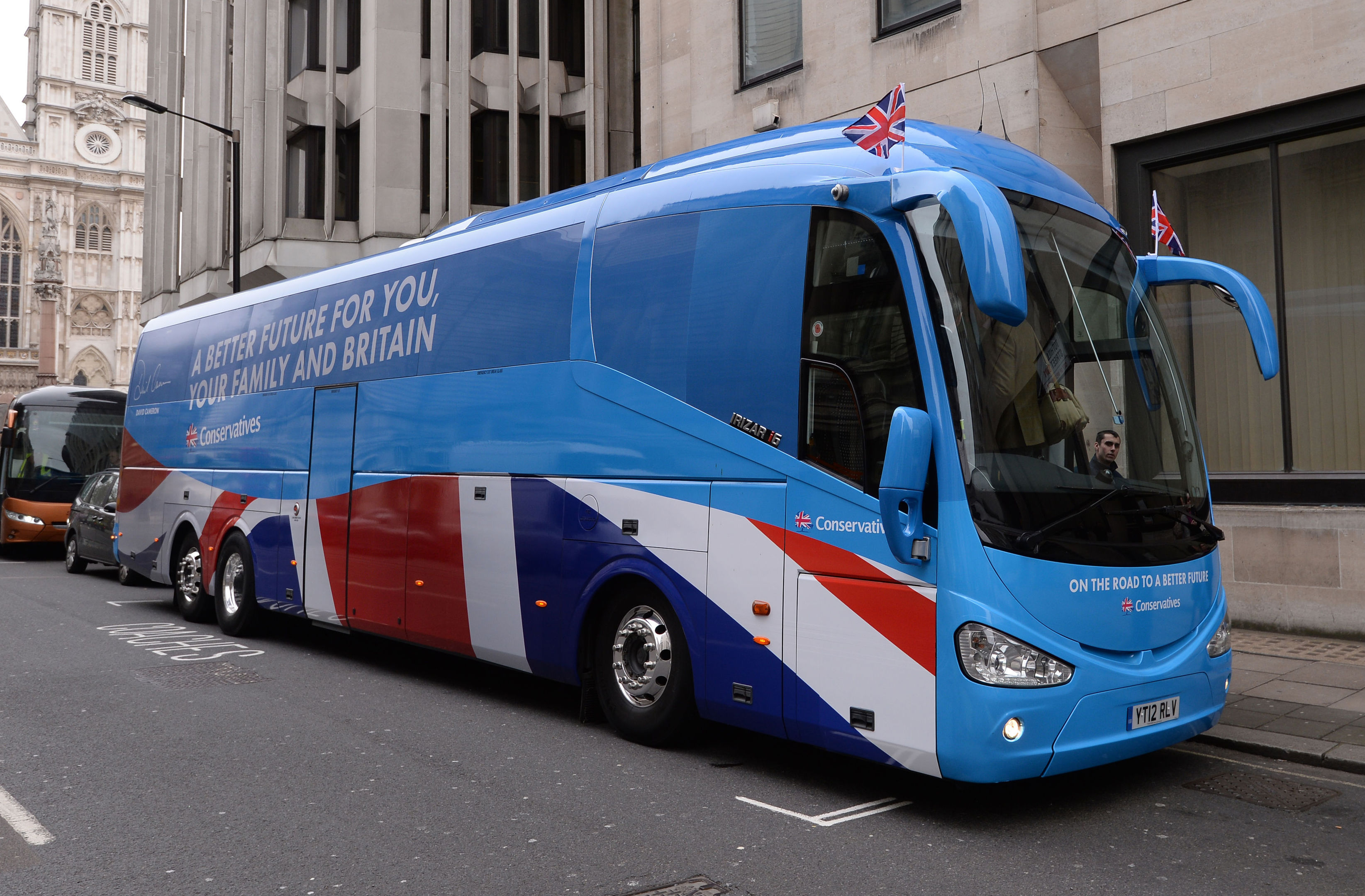 Conservative Party General Election 'battle bus' at the centre of allegations (Stefan Rousseau/PA Wire)