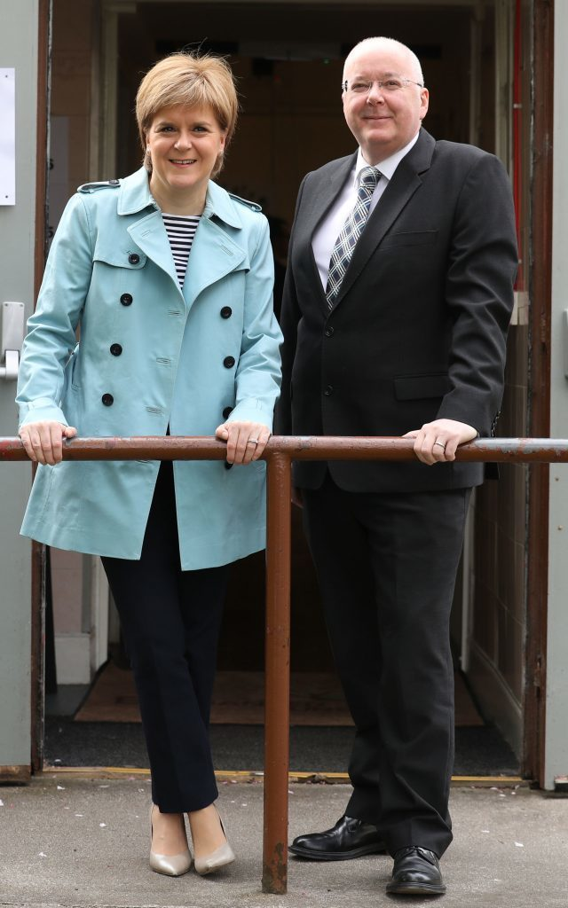 Nicola Sturgeon and her husband Peter Murrell (Andrew Milligan/PA Wire)
