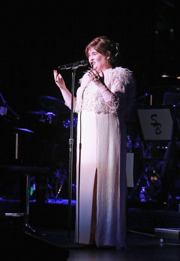 Susan Boyle performs (Robert Benson/Getty Images for Susan Boyle)