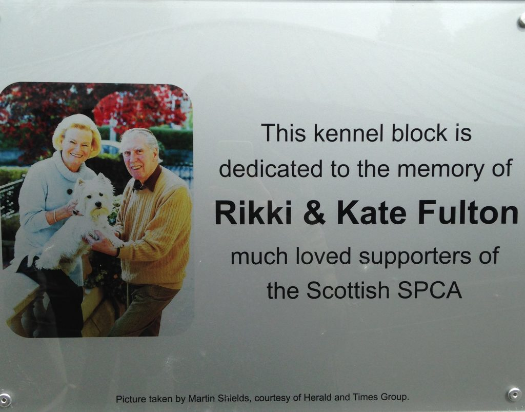 Animals lovers Rikki and Kate Fulton left a generous legacy donation to the Scottish SPCA (Gillian Furmage/DC Thomson)