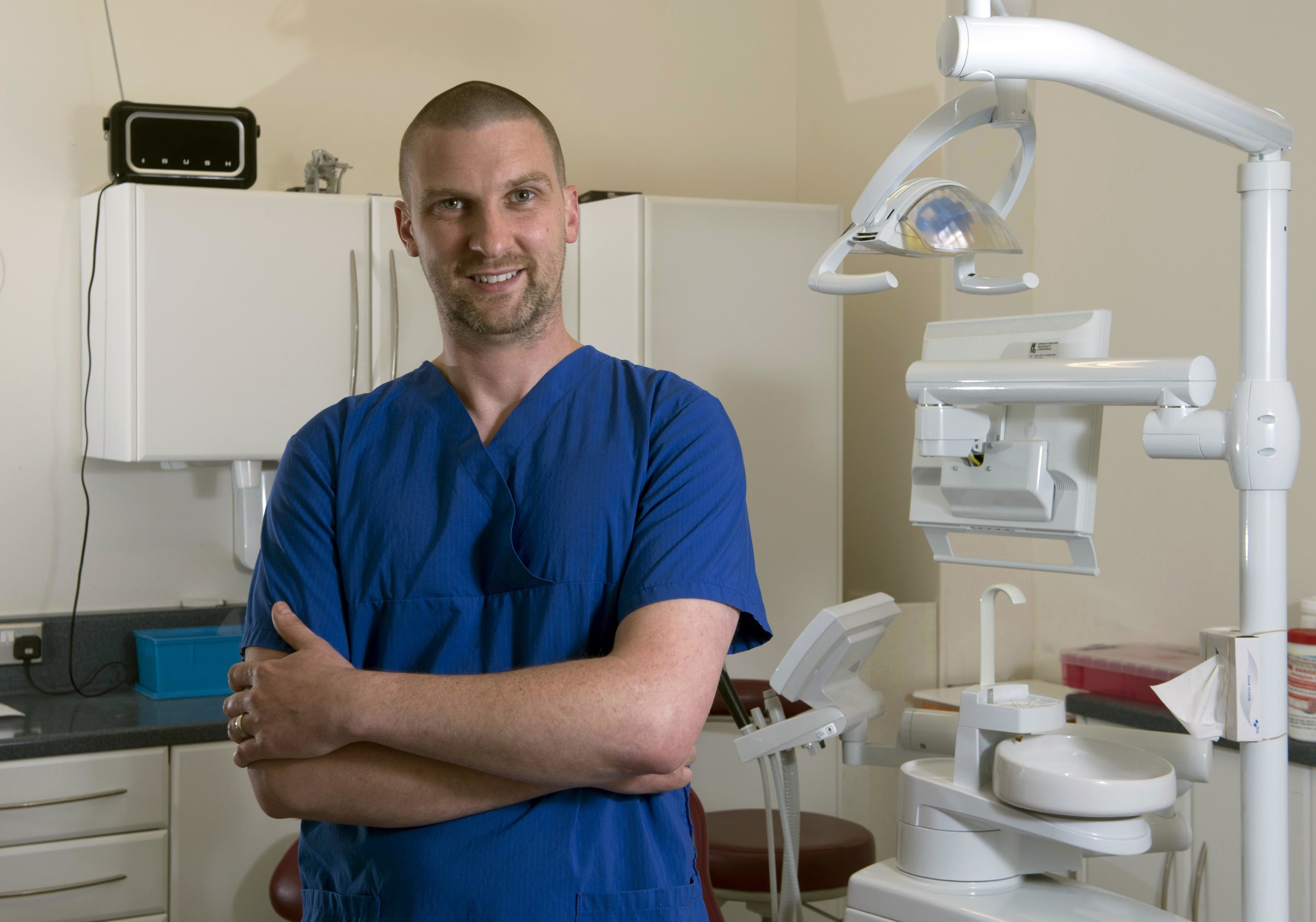 Forres Dentist Ken Glass in his surgery (Trevor Martin)