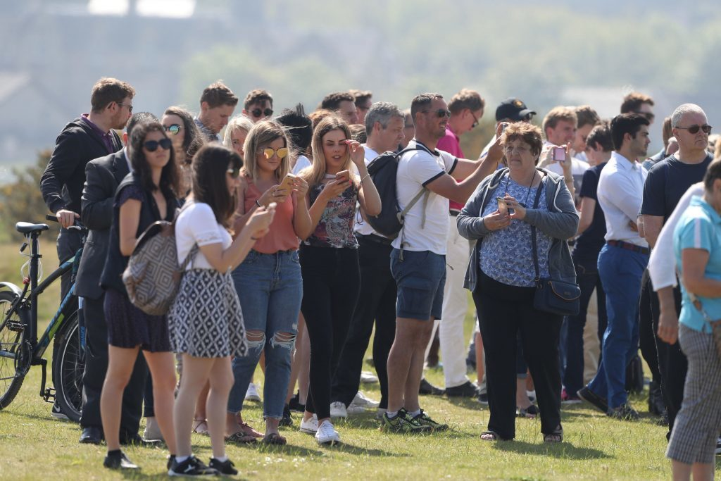 Crowds gather (Andrew Milligan/PA Wire)