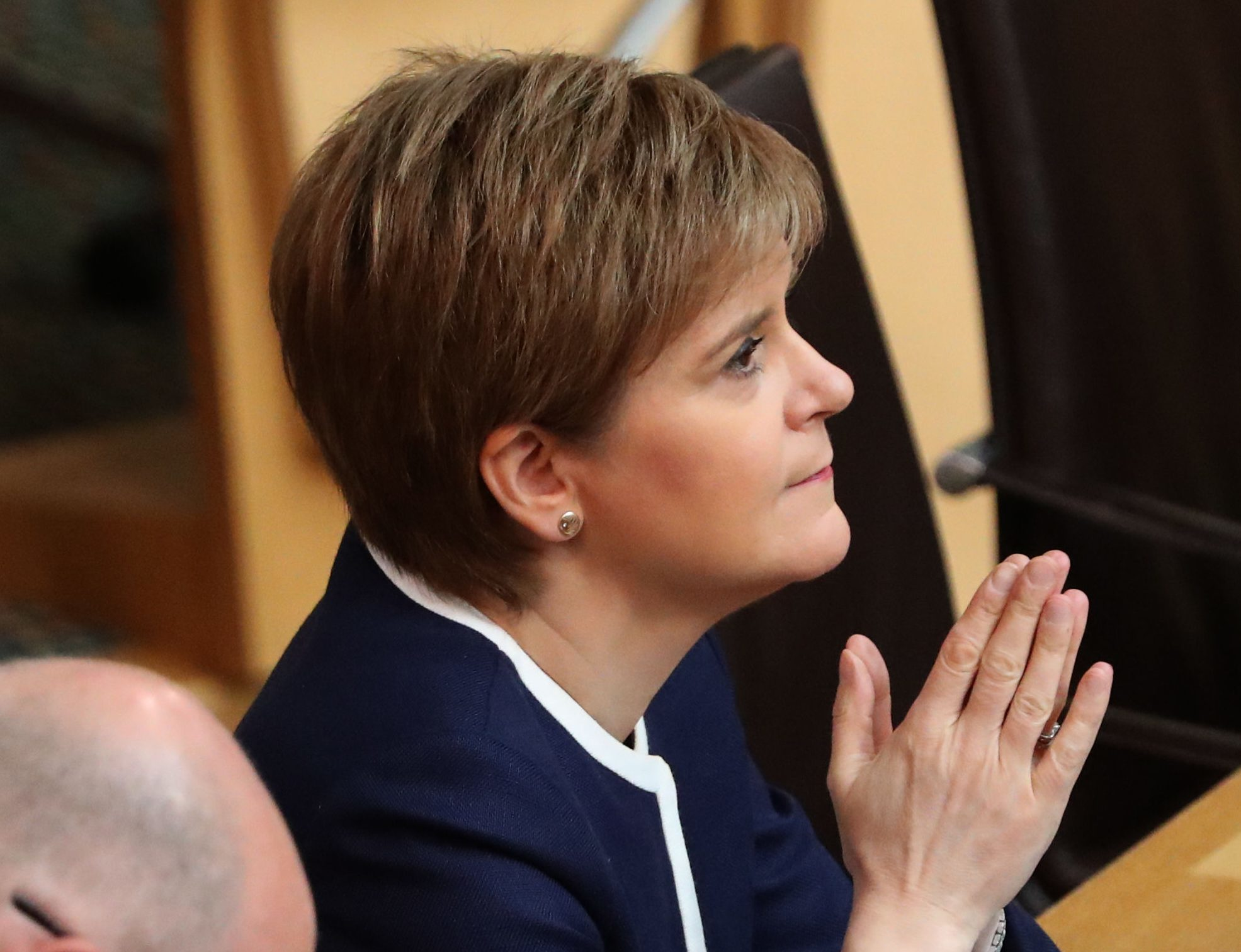 First Minister Nicola Sturgeon during FMQs, when she was questioned about her stance on fox hunting (Andrew Milligan/PA Wire)